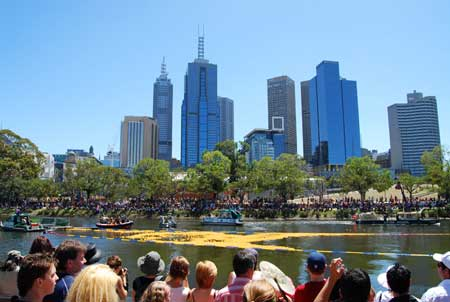 Rubber Duck Race at the YarraRiver